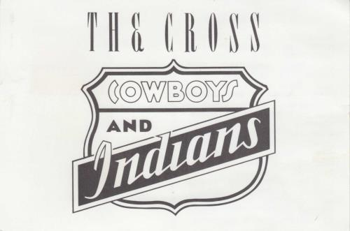 "The Cross Cowboys & Indians + Postcard & Press Release 7"" vinyl single (7 inch record) UK CRO07CO750084"