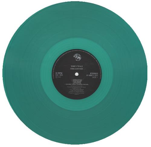 The Cult Dreamtime - Green Vinyl vinyl LP album (LP record) Czech CLTLPDR432407