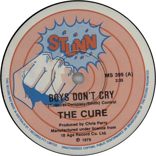 "The Cure Boys Don't Cry - EX 7"" vinyl single (7 inch record) Australian CUR07BO173948"