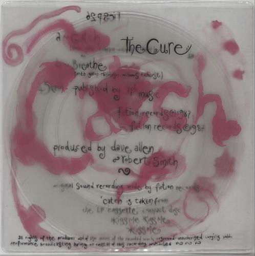 """The Cure Catch - Clear Vinyl - EX 7"""" vinyl single (7 inch record) UK CUR07CA674558"""