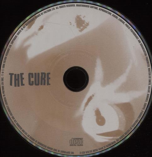 "The Cure Gone! - Lenticular CD single (CD5 / 5"") German CURC5GO673504"