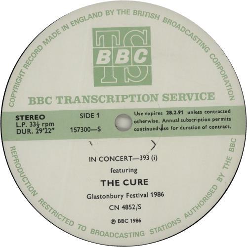 The Cure In Concert 393 vinyl LP album (LP record) UK CURLPIN655543