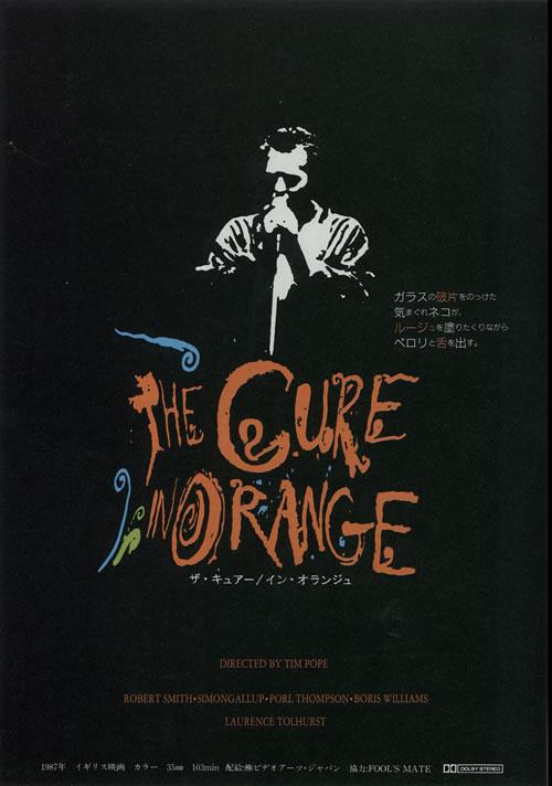 The Cure In Orange - Pair of Handbills handbill Japanese CURHBIN638808