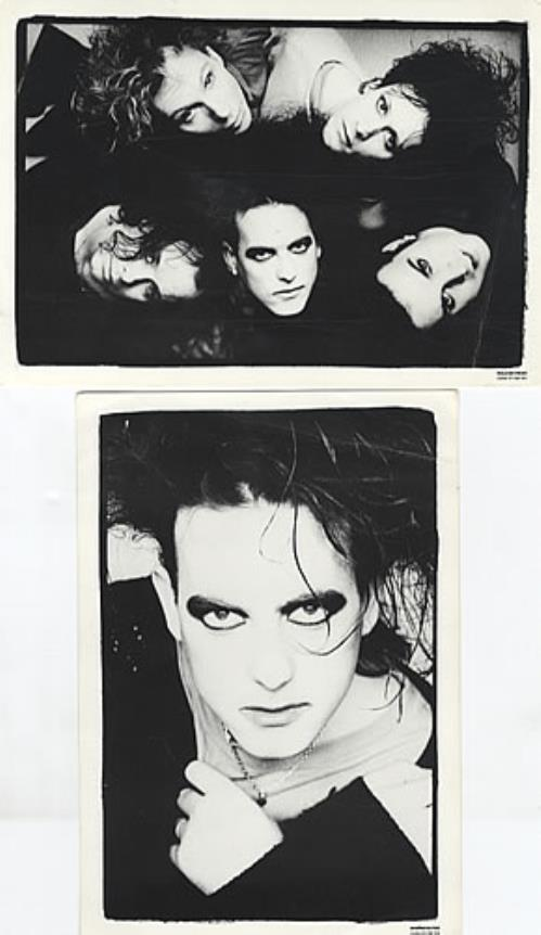 The Cure Set of 2 Black & White Cards memorabilia UK CURMMSE334337