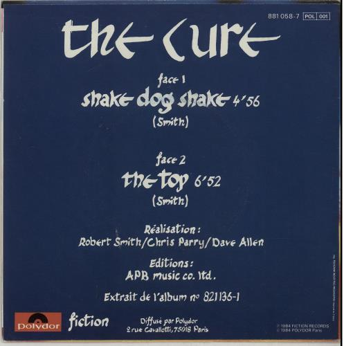 "The Cure Shake Dog Shake - Seam Split 7"" vinyl single (7 inch record) French CUR07SH213094"