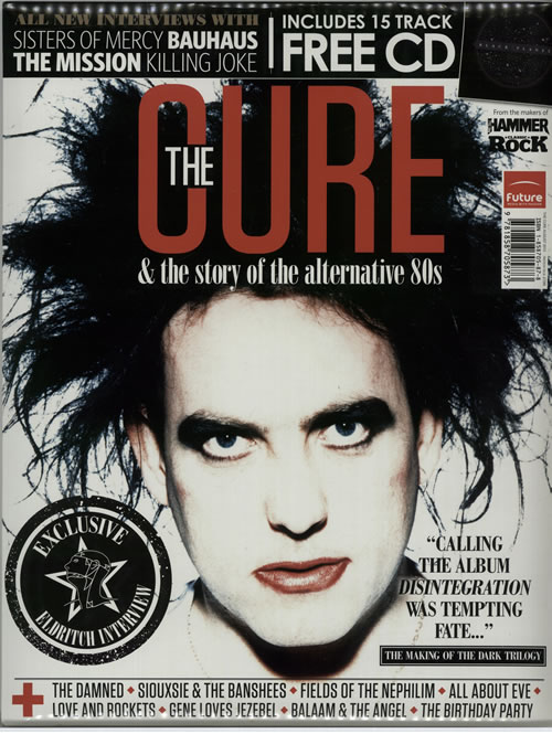 THE CURE The Cure Story Of Alternative 80s 2012 UK Metal Hammer Classic Rock Fan Pack Comprising A 112 Page Magazine Compilation CD Album