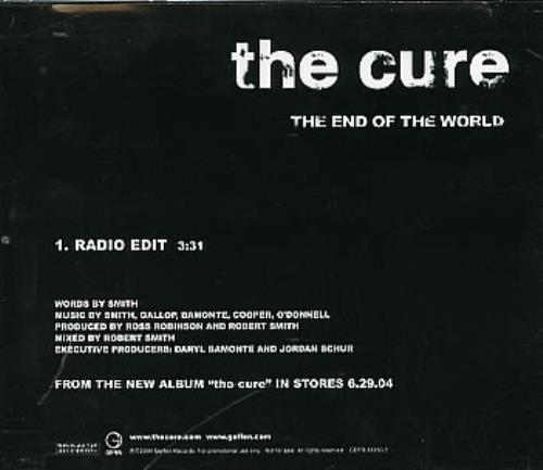"""The Cure The End Of The World CD single (CD5 / 5"""") US CURC5TH293917"""