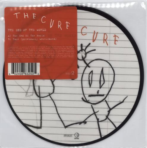 "The Cure The End Of The World 7"" vinyl picture disc 7 inch picture disc single UK CUR7PTH295755"