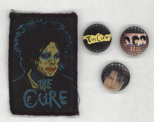 The Cure Three Badges & Sew On Patch badge UK CURBGTH699905