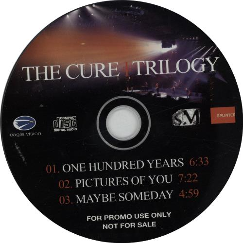 The Cure Trilogy UK Promo CD single (CD5 / 5