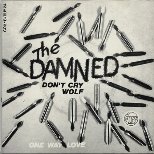 """The Damned Don't Cry Wolf - Brown Vinyl 7"""" vinyl single (7 inch record) Belgian DAM07DO641068"""
