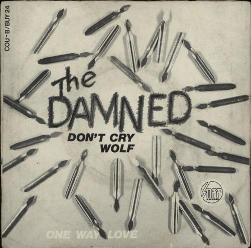 """The Damned Don't Cry Wolf - Yellow Vinyl - EX 7"""" vinyl single (7 inch record) Belgian DAM07DO661582"""