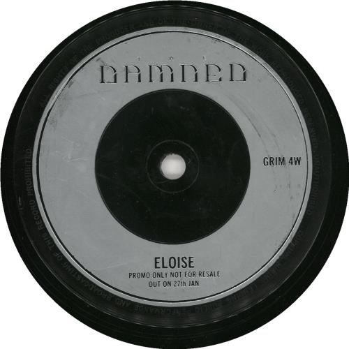 "The Damned Eloise 7"" vinyl single (7 inch record) UK DAM07EL328053"