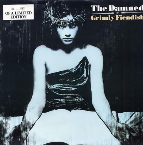 "The Damned Grimly Fiendish - White Vinyl 12"" vinyl single (12 inch record / Maxi-single) UK DAM12GR145854"