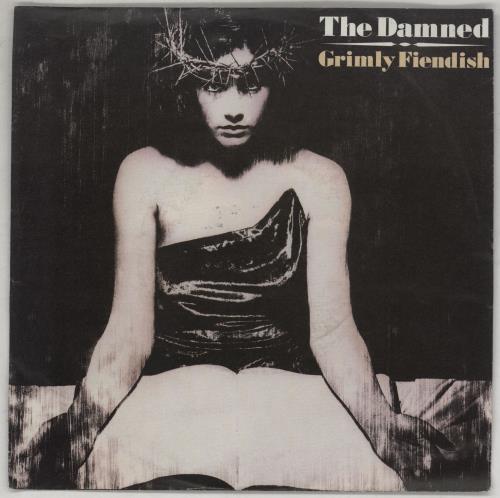 "The Damned Grimly Fiendish - Wide 7"" vinyl single (7 inch record) German DAM07GR751257"