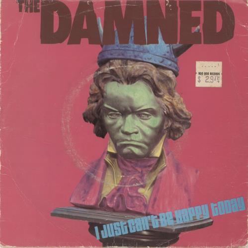 """The Damned I Just Can't Be Happy Today - VG 7"""" vinyl single (7 inch record) UK DAM07IJ693286"""