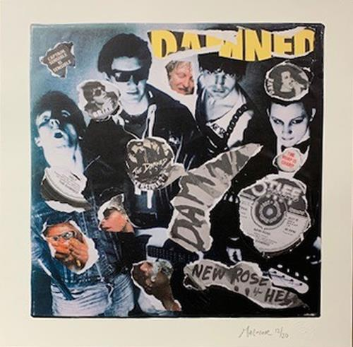 The Damned New Rose - Punk Art Print artwork UK DAMARNE718870