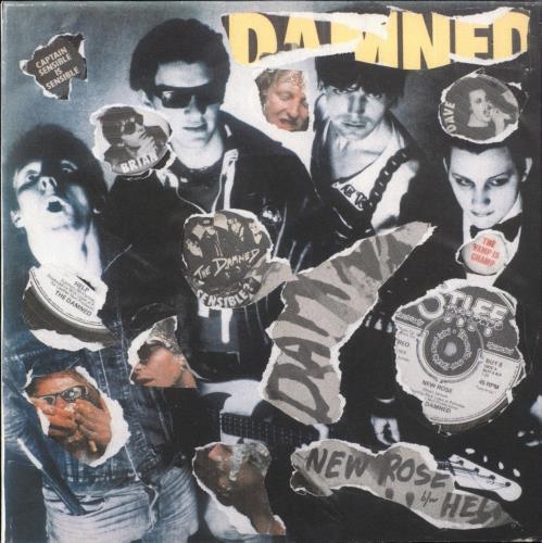 "The Damned New Rose - Punk Art sleeve 7"" vinyl single (7 inch record) UK DAM07NE708107"
