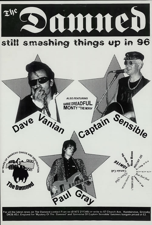 the damned quantity of 8 dave vanian amp captain sensible