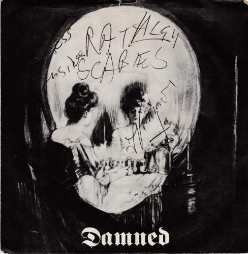 """The Damned Stretcher Case Baby - Fully Autographed 7"""" vinyl single (7 inch record) UK DAM07ST715409"""