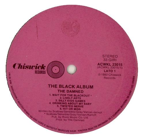 The Damned The Black Album 2-LP vinyl record set (Double Album) UK DAM2LTH145910