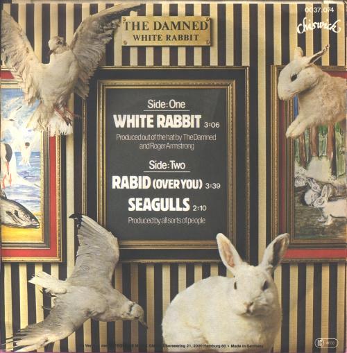 "The Damned White Rabbit 7"" vinyl single (7 inch record) German DAM07WH131675"