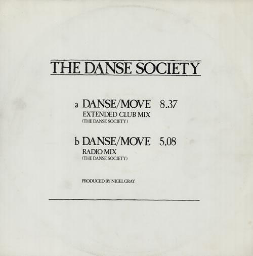 """The Danse Society Danse/Move 12"""" vinyl single (12 inch record / Maxi-single) UK DSE12DA180469"""