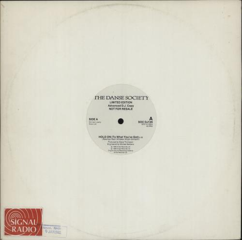"""The Danse Society Hold On (To What You've Got) 12"""" vinyl single (12 inch record / Maxi-single) UK DSE12HO688440"""