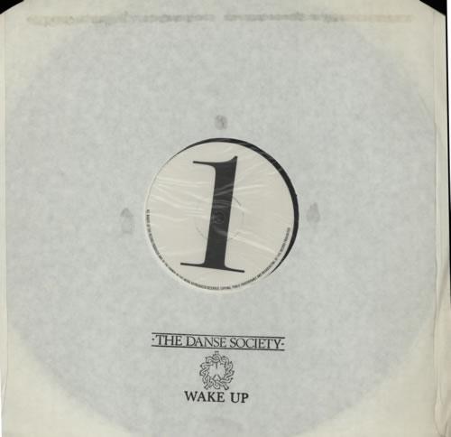 "The Danse Society Wake Up 12"" vinyl single (12 inch record / Maxi-single) UK DSE12WA337110"