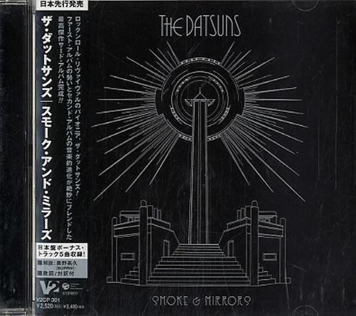 The Datsuns Smoke & Mirrors - Promo stickered CD album (CDLP) Japanese DSUCDSM369221