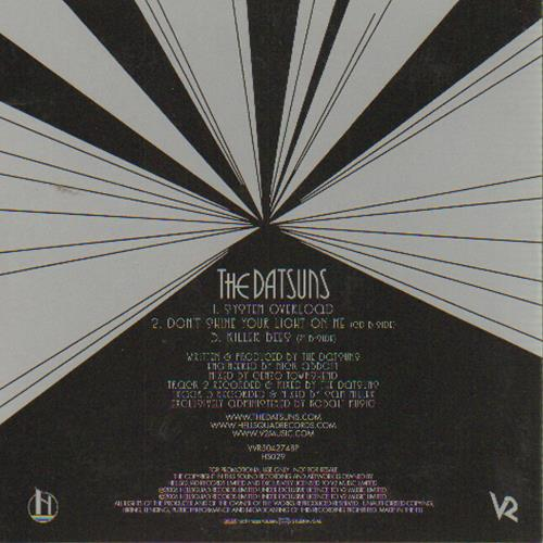 "The Datsuns System Overload CD single (CD5 / 5"") UK DSUC5SY649088"