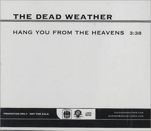 """The Dead Weather Hang You From The Heavens CD single (CD5 / 5"""") US WEVC5HA493137"""
