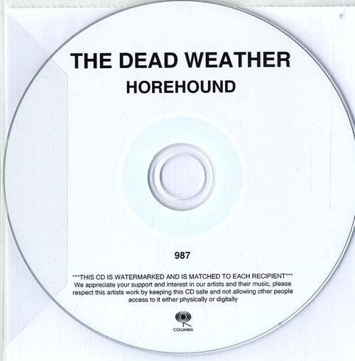 The Dead Weather Horehound CD album (CDLP) UK WEVCDHO625070