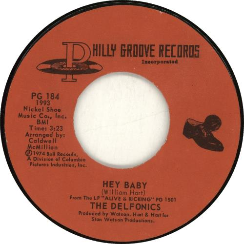 "The Delfonics Hey Baby / Lying To Myself 7"" vinyl single (7 inch record) US ICZ07HE702139"