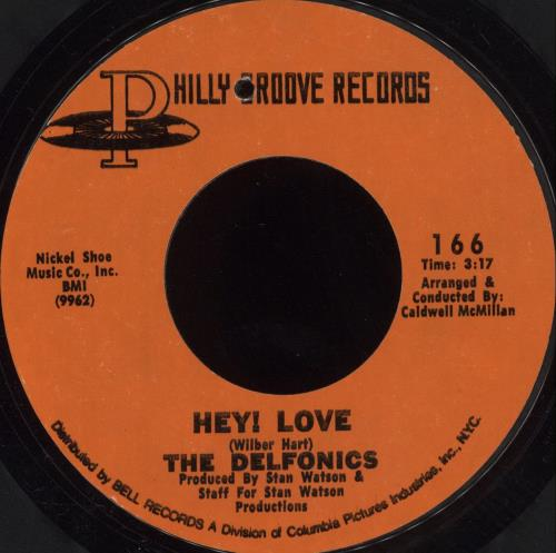 "The Delfonics Hey Love 7"" vinyl single (7 inch record) US ICZ07HE705397"