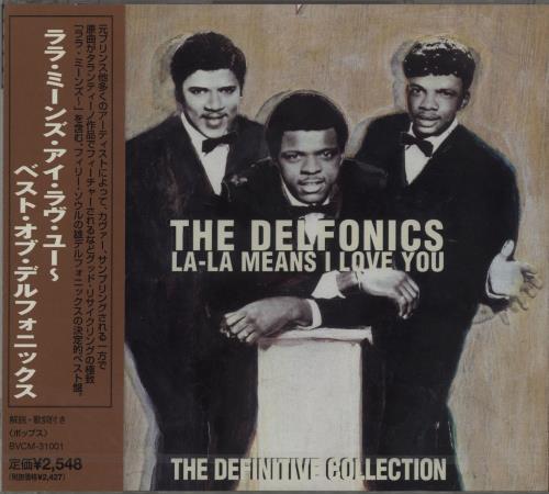 The Delfonics La-La Means I Love You - The Definitive Collection CD album (CDLP) Japanese ICZCDLA661229