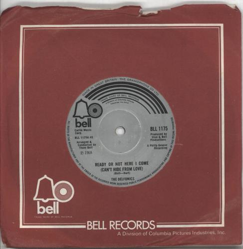 """The Delfonics Ready Or Not Here I Come 7"""" vinyl single (7 inch record) UK ICZ07RE386088"""