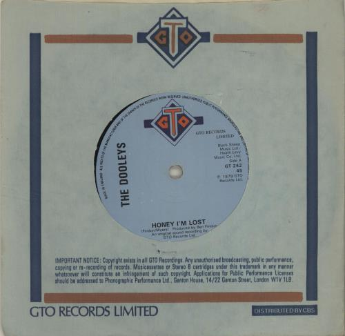 "The Dooleys Honey I'm Lost 7"" vinyl single (7 inch record) UK D/Y07HO683942"