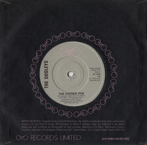 "The Dooleys The Chosen Few - Solid 7"" vinyl single (7 inch record) UK D/Y07TH566578"