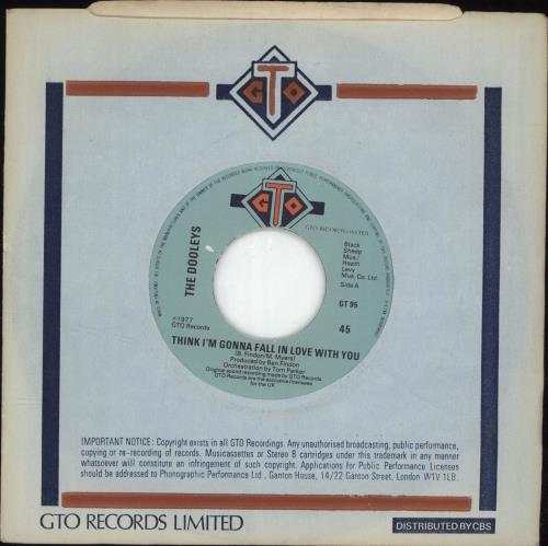 """The Dooleys Think I'm Gonna Fall In Love With You - Wide Centre 7"""" vinyl single (7 inch record) UK D/Y07TH690257"""