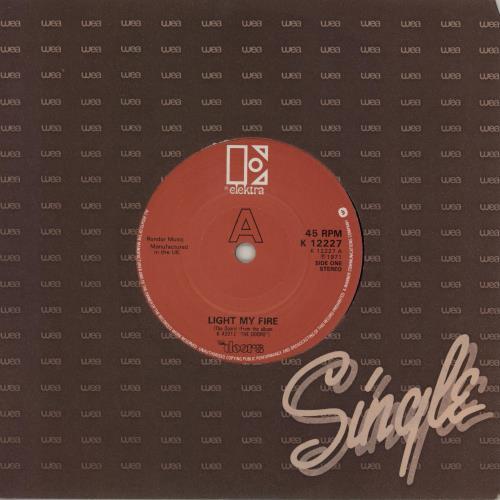 "The Doors Light My Fire 7"" vinyl single (7 inch record) UK DOR07LI714237"