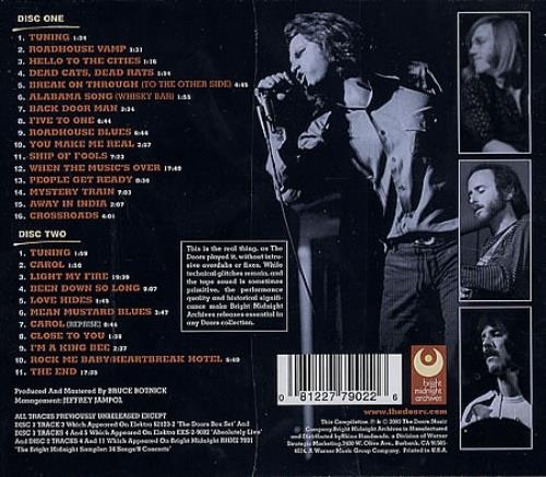 The Doors Live In Detroit US 2 CD Album Set (Double CD