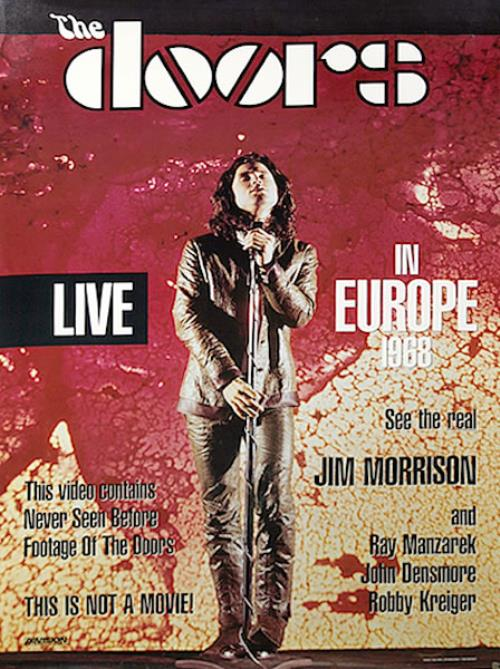 The Doors Live In Europe 1968 poster US DORPOLI456093 & The Doors Live In Europe 1968 US Promo poster (456093)