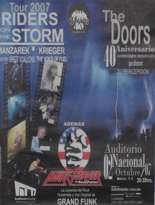 The Doors Riders On The Storm Tour 2007 poster Mexican DORPORI425289