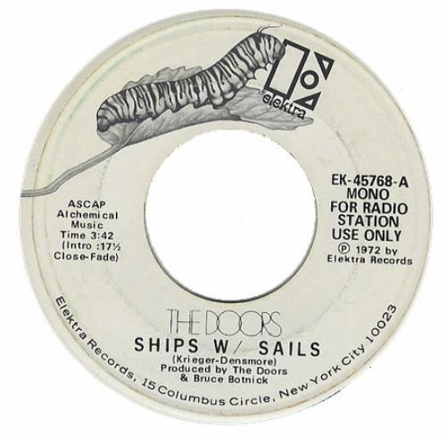 "The Doors Ships W/ Sails 7"" vinyl single (7 inch record) US DOR07SH261408"
