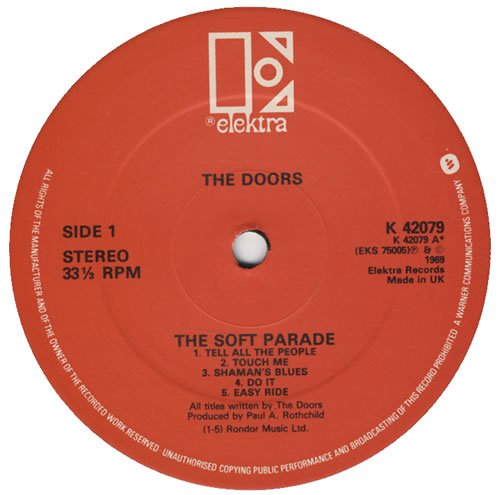 The Doors The Soft Parade - Red Label vinyl LP album (LP record) UK