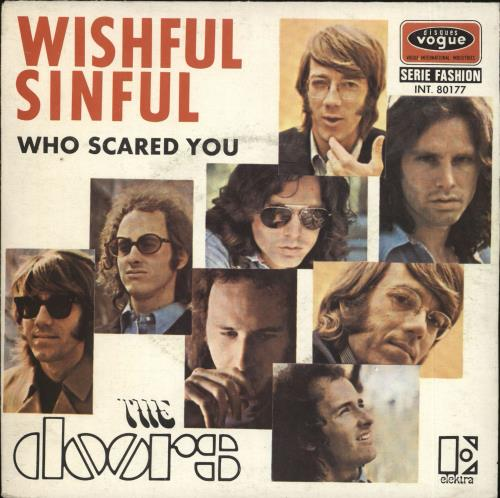 "The Doors Wishful Sinful 7"" vinyl single (7 inch record) French DOR07WI727516"