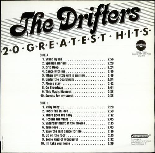 The Drifters 20 Greatest Hits Dutch Vinyl Lp Album Lp