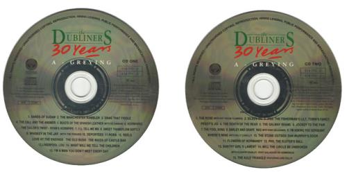 The Dubliners 30 Years A Greying Uk Promo 2 Cd Album Set