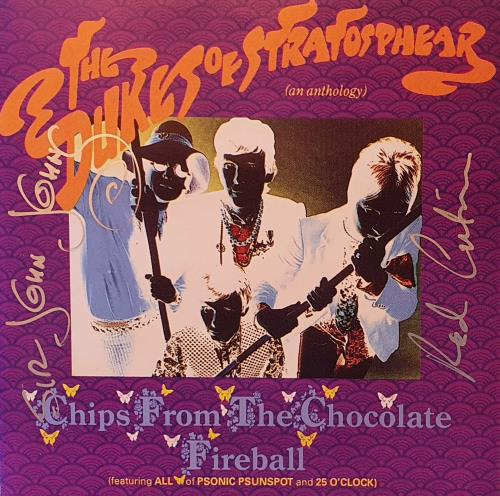 The Dukes Of Stratosphear Chips From The Chocolate Fireball - Autographed CD album (CDLP) UK DUKCDCH748660